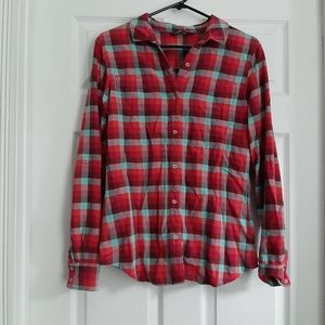The North Face Plaid Button Up Shirt Size Large
